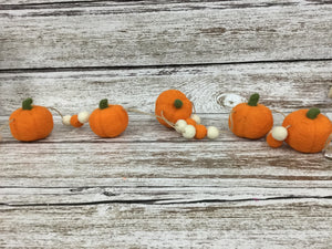 Orange pumpkin garland