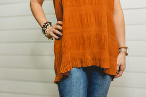 Clay Peated Cami Top