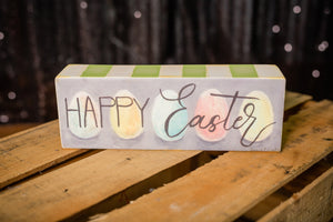 Happy Easter Block sign