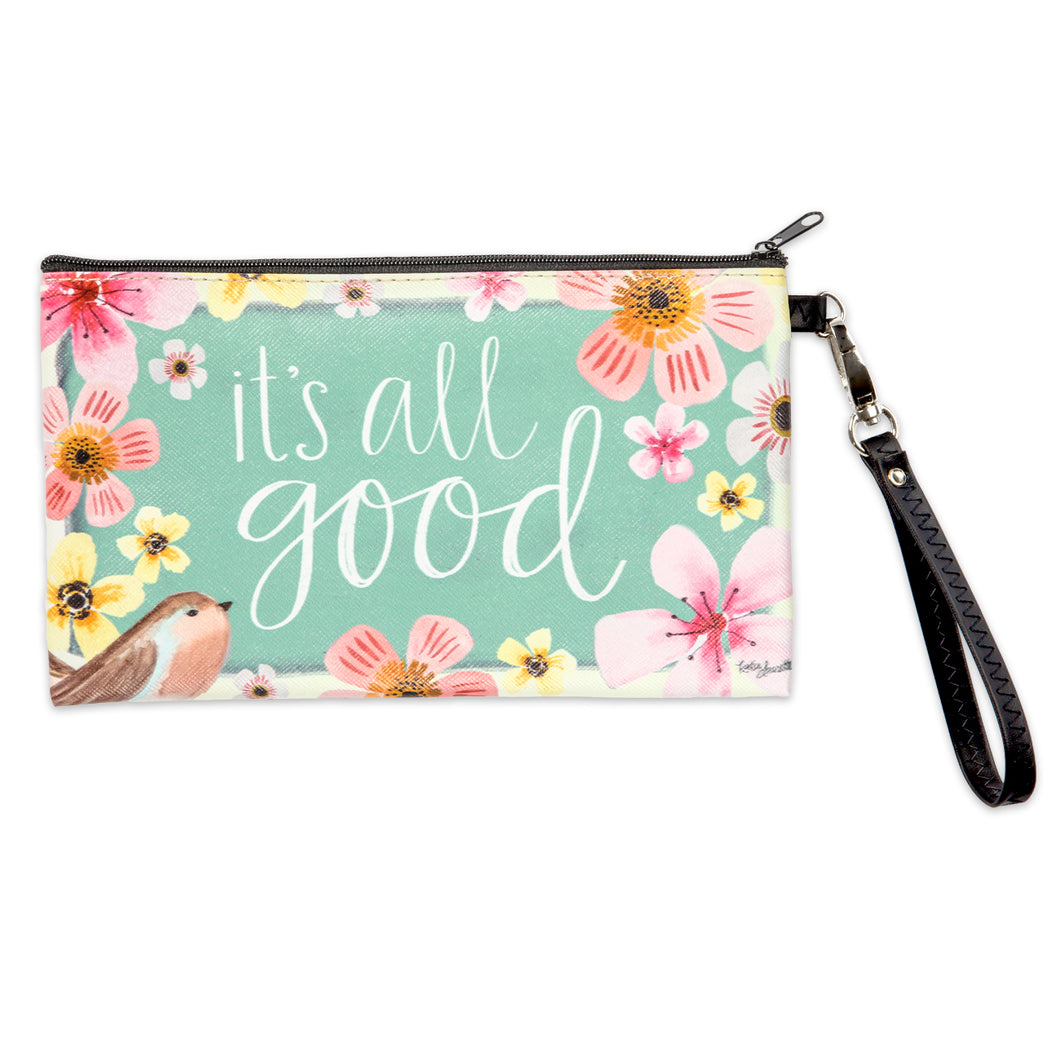It's All Good Zippered Bag