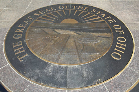Great Seal of the State of Ohio representing the #1 state for bed bug Google search queries according to porch.com study