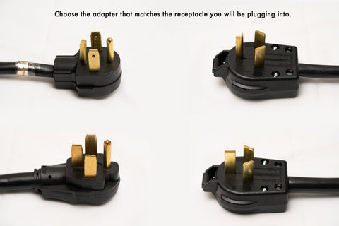 Four pig tail adapter cables included with PestPro Thermal All Steel Universal Power bed bug heater package.