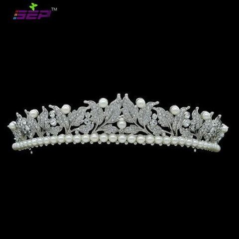 Bridal Flower Tiara Crown Wedding Jewelry Hair Accessories SHA8622 - sepbridals