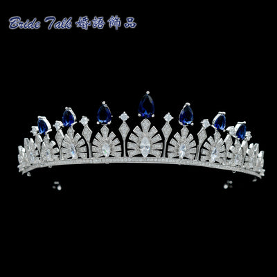 Cubic zircon wedding bridal tiara diadem hair jewelry TR15038 - sepbridals