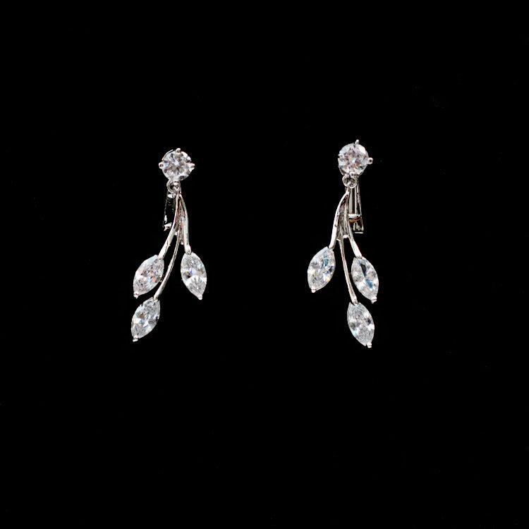 Cubic zirconia bride wedding necklace earring set top quality  CN33014 - sepbridals