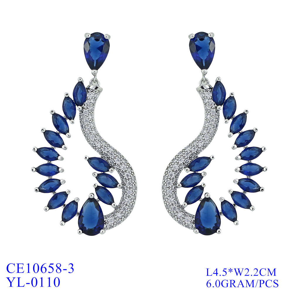 Cubic Zirconia  Earring Women Dangle Earrings CE10658 - sepbridals