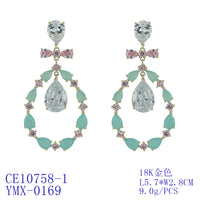 Charming Cubic Zirconia CZ Dangle Water Drop Earrings CE10758