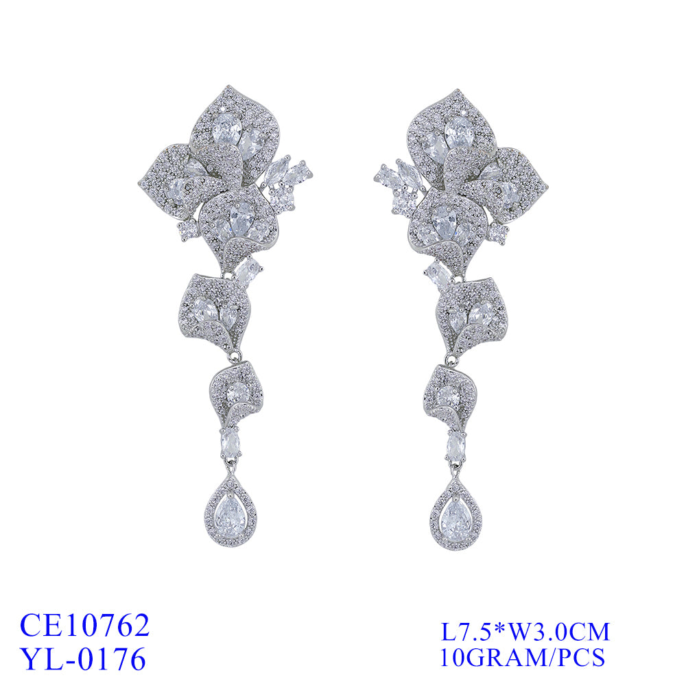 Cubic Zirconia  Earring Women Dangle Earrings CE10762 - sepbridals