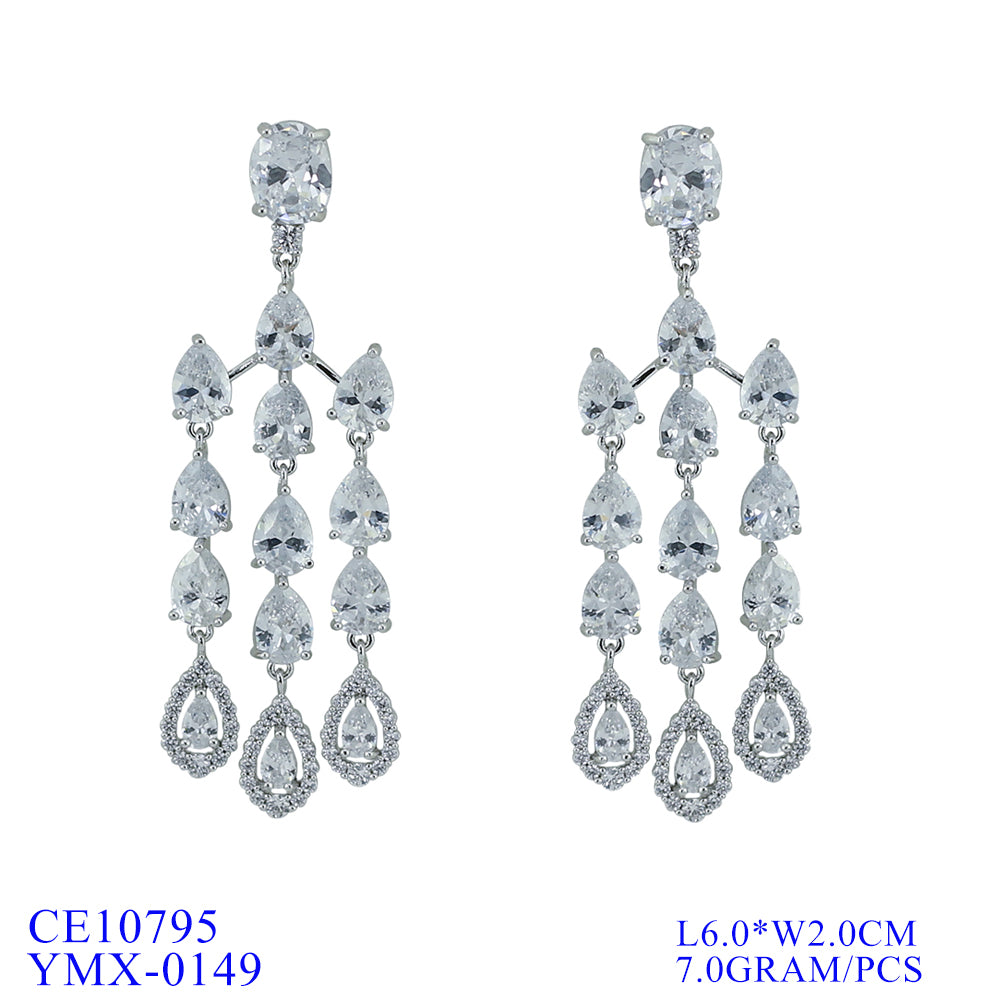 Cubic Zirconia  Earring Women Dangle Earrings CE10795 - sepbridals