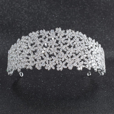Cubic Zirconia Bridal Wedding Soft Headbands Hairband Hair Accessories CHA10022 - sepbridals