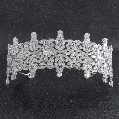 Cubic Zirconia Bridal Wedding Soft Headbands Hairband Hair Accessories CHA10025 - sepbridals