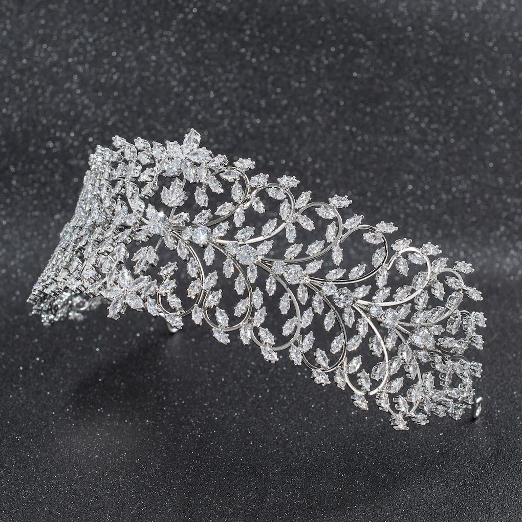 Cubic Zirconia Wedding Bridal Tiara Diadem Hair Jewelry CHA10006 - sepbridals