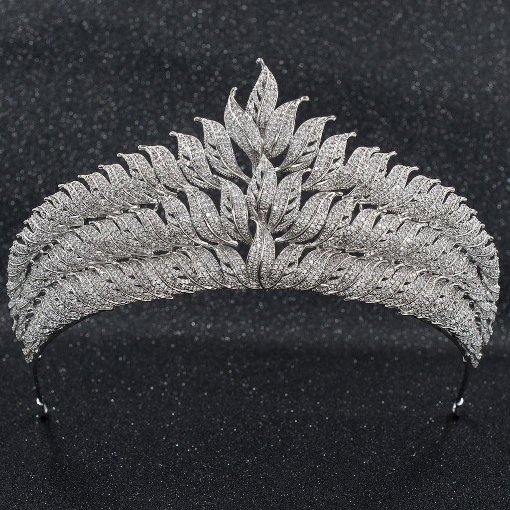 Cubic Zirconia Wedding Bridal Tiara Diadem Hair Jewelry CH10265 - sepbridals