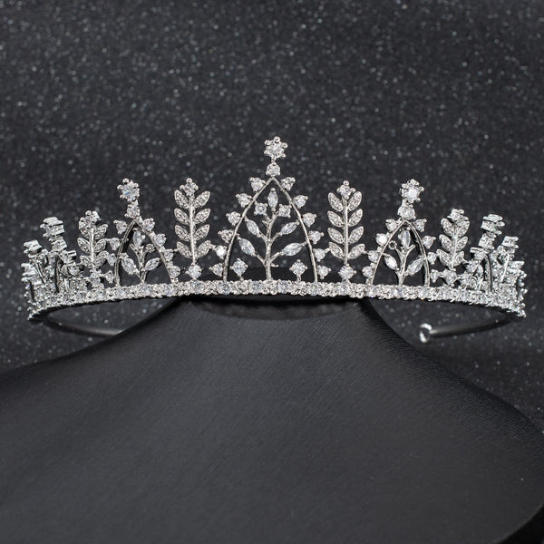 Cubic Zirconia Wedding Bridal Tiara Hair Accessories CH10292 - sepbridals