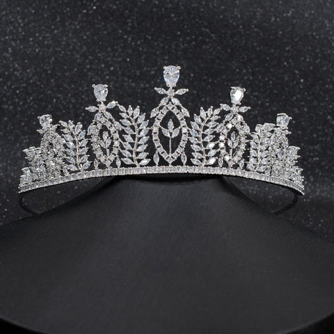 Cubic Zirconia Wedding Bridal Tiara Diadem Hair Jewelry CH10282 - sepbridals