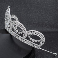 Cubic Zirconia Wedding Bridal Tiara Diadem Hair Jewelry CH10293 - sepbridals