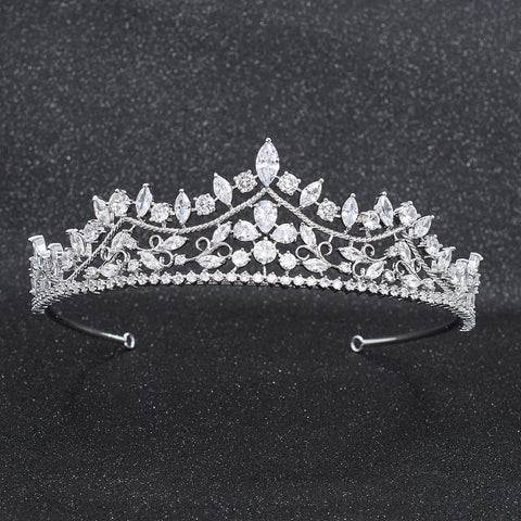 Cubic Zirconia Wedding Bridal Tiara Diadem Hair Jewelry CH10269 - sepbridals