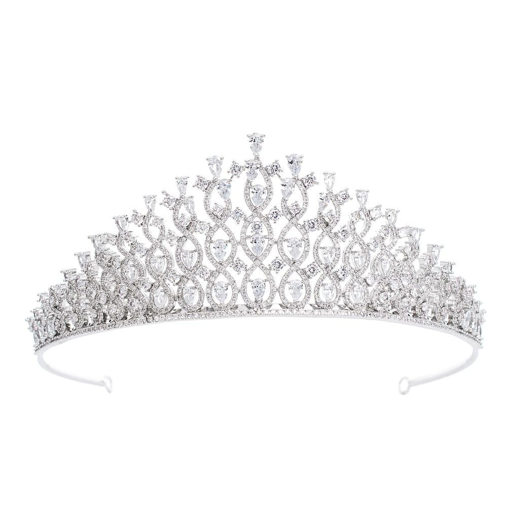 Cubic Zirconia Wedding Bridal Tiara Diadem Hair Jewelry CH10291 - sepbridals