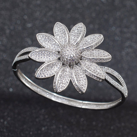 Cubic Zircon Sunflower Bracelet Bangle  A10102 - sepbridals