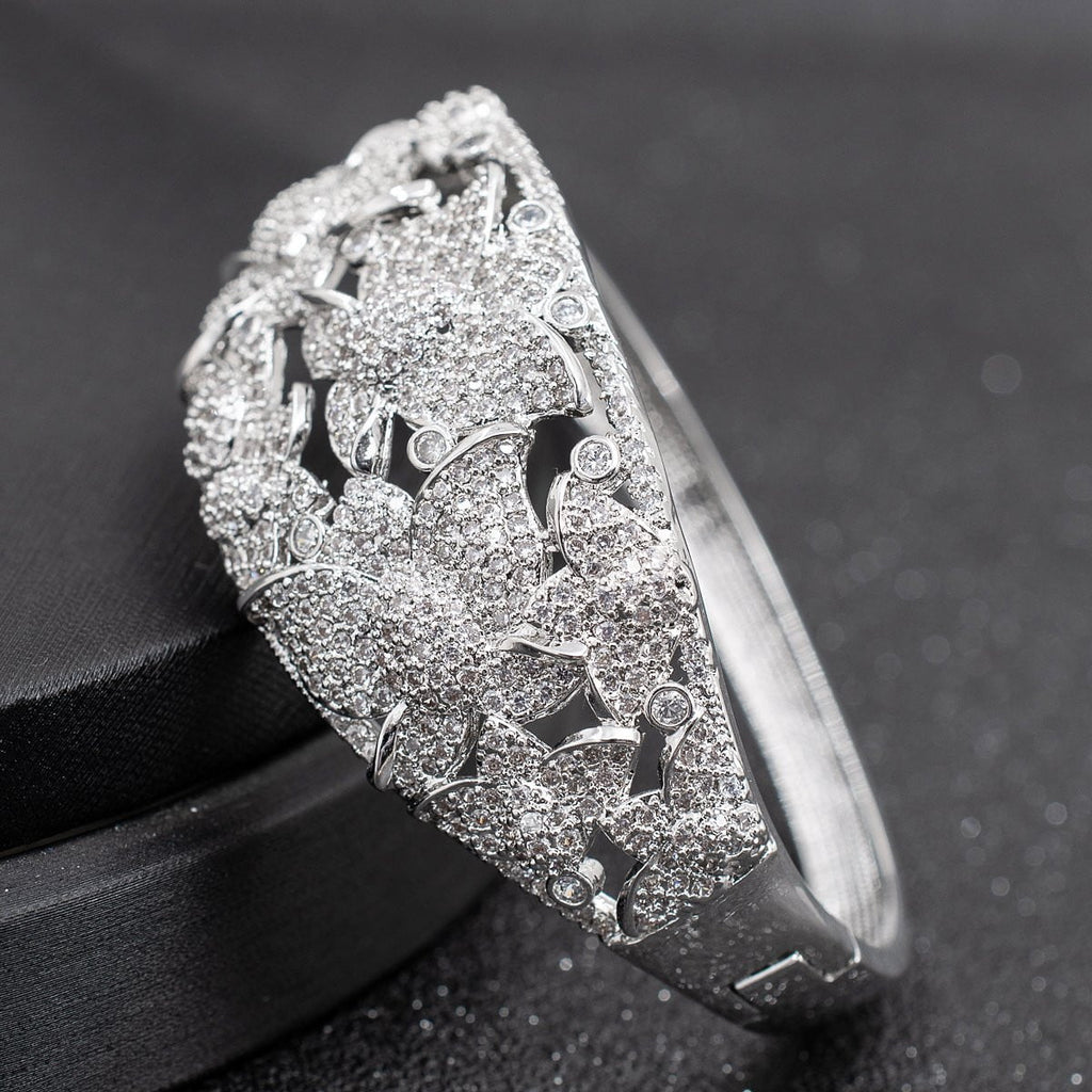 Cubic Zircon Butterfly Bracelet Bangle Cuff A10104 - sepbridals