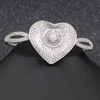 5A CZ Cubic Zircon Love Heart Bracelet Bangle  B147A10092 - sepbridals