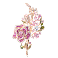 Fashion Pink Crystal Cubic Zirconia Bridal Jewelry  32977218637 - sepbridals