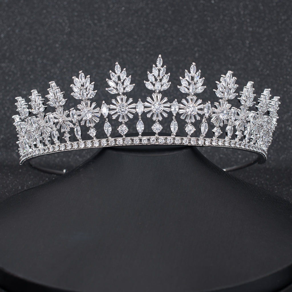 Cubic Zirconia Wedding Bridal Royal Tiara Crown CH10305 - sepbridals