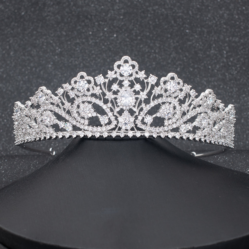 Cubic Zirconia Wedding Bridal Royal Tiara Crown Diadem  CH10304 - sepbridals