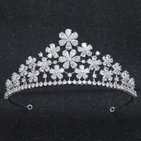 Classic Design Cubic Zirconia Wedding Bridal Tiara Crown CH10303 - sepbridals