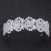 Crystal Cubic Zirconia Bridal Wedding Soft Heart Headband Hairband Tiara CHA10026 - sepbridals
