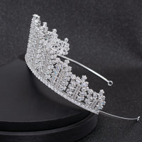 Cubic Zirconia Wedding Bridal Tiara Princess Crown CH10313 - sepbridals