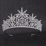 Cubic Zirconia Wedding Bridal Star Tiara Crown CH10311 - sepbridals