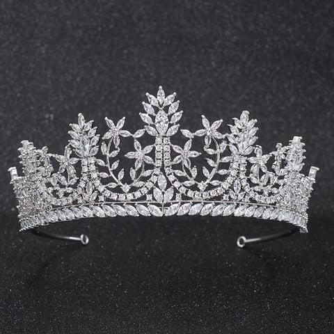 Cubic Zirconia Wedding Bridal Tiara Diadem Crown CH10308 - sepbridals