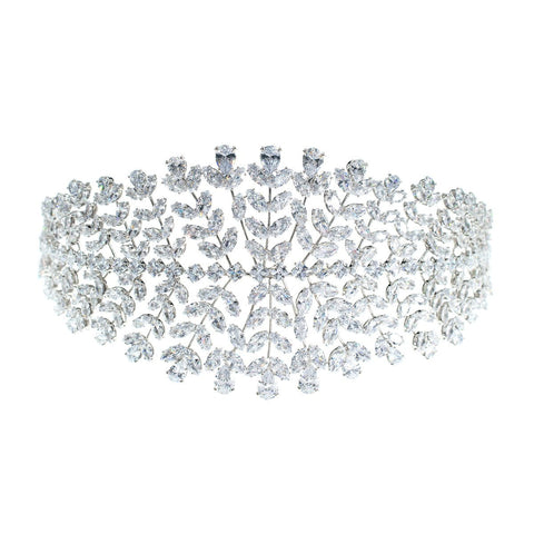 Crystal Cubic Zirconia Bridal Wedding Soft Headband Hairband Tiara  CHA10032 - sepbridals