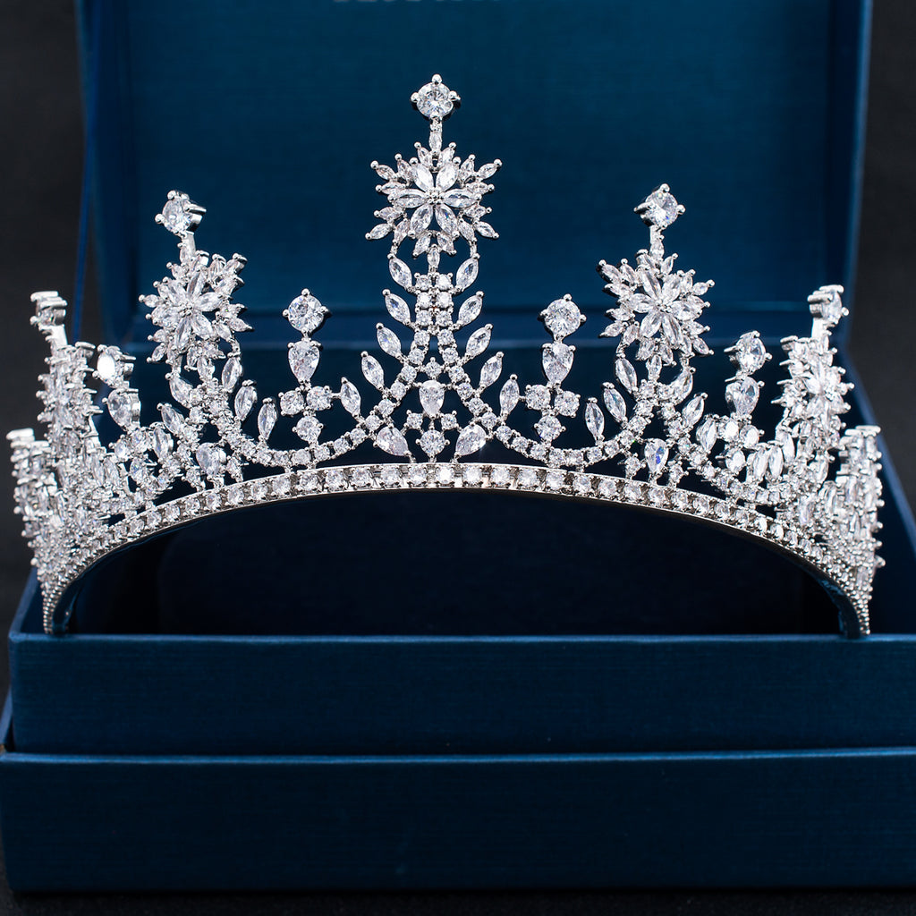 Cubic Zirconia Wedding Bridal Princess Wheat Tiara Crown CH10324 - sepbridals