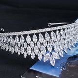 Cubic Zirconia Wedding Bridal Princess Wheat Tiara Crown CH10319 - sepbridals