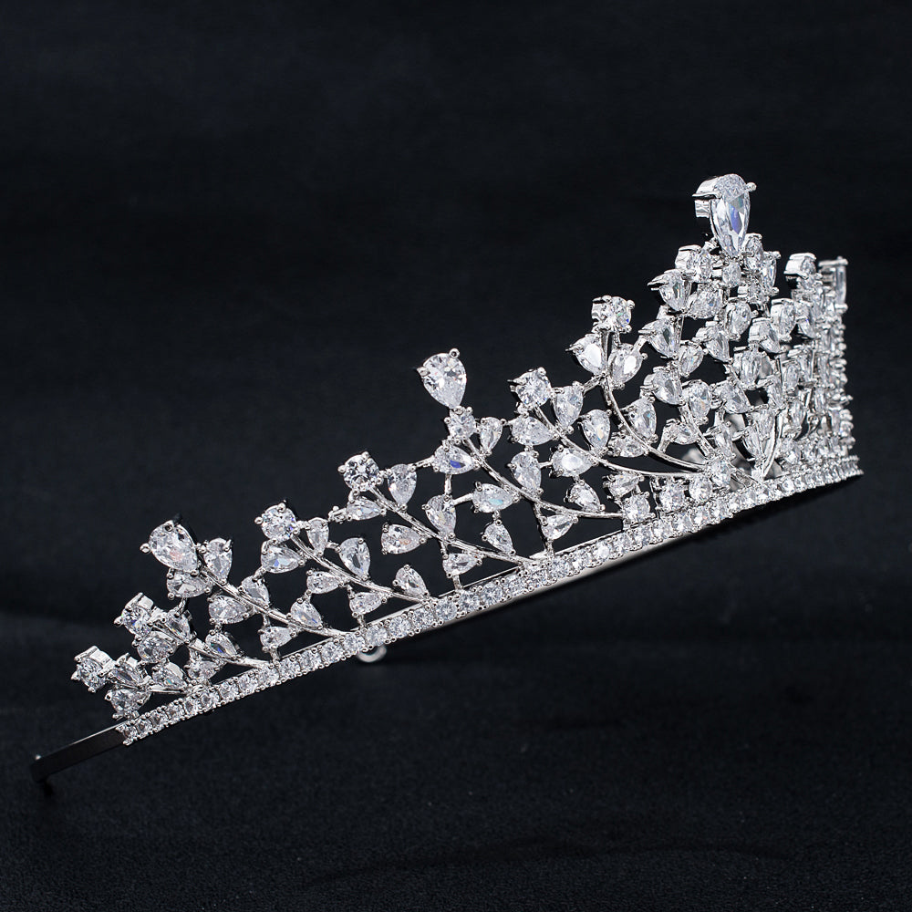 Cubic Zirconia Wedding Bridal Princess Tiara Crown CH10321 - sepbridals