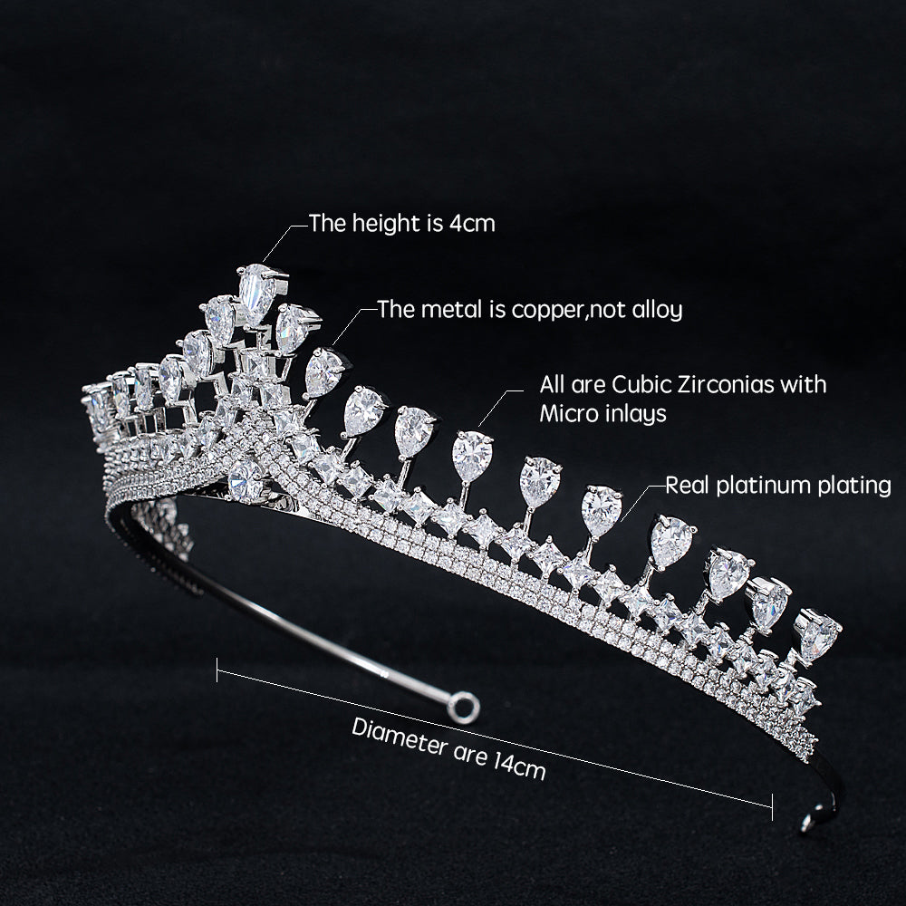Cubic Zirconia Wedding Bridal Princess Tiara Crown CH10318 - sepbridals
