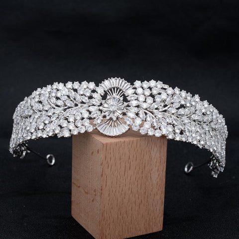 Crystal Cubic Zirconia Bridal Wedding  Headband Hairband Tiara  CHA10033 - sepbridals