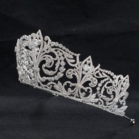 Cubic zircon wedding  bridal royal tiara diadem crown  CH10329 - sepbridals