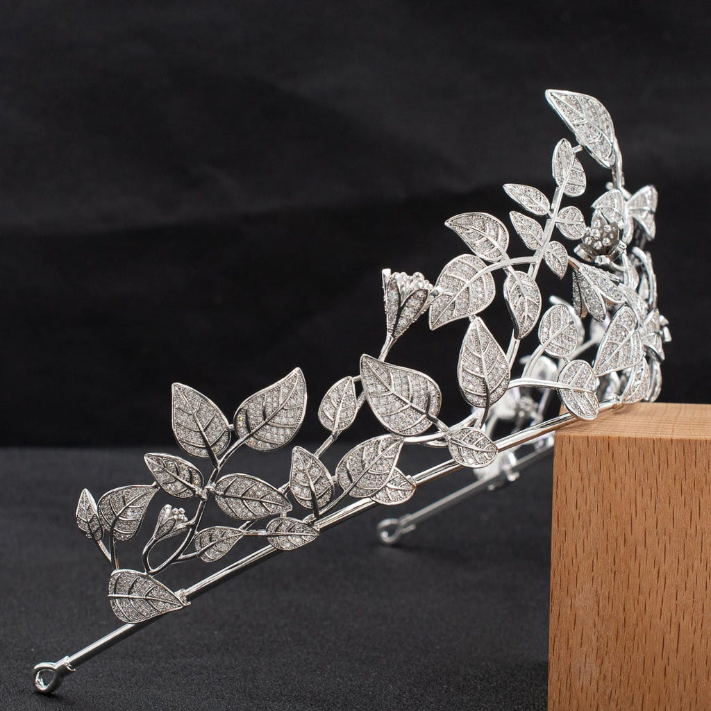 Cubic zircon wedding  bridal royal tiara diadem crown  CH10331 - sepbridals
