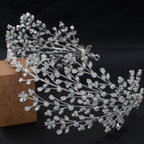 3/4 Round Cubic Zirconia Bridal Wedding Big Headband Hair Band Tiara for Women CHA10055 - sepbridals