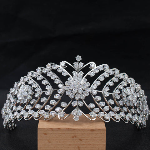 Cubic Zirconia Bridal Wedding Soft Headband Hair Band Tiara for Women CHA10034 - sepbridals