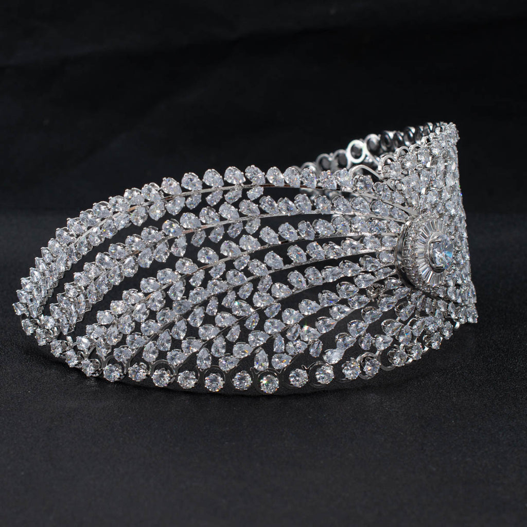 Cubic Zirconia Bridal Wedding Soft Headband Hair Band Tiara for Women CHA10037 - sepbridals
