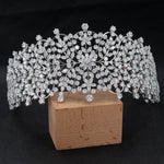 Wide Cubic Zirconia Bridal Wedding Soft Headband Hair Band Tiara for Women CHA10043 - sepbridals