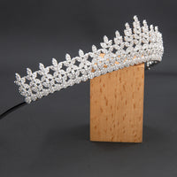 5A Level Cubic Zirconia Wedding Bridal Big Tiara Diadem CH10353