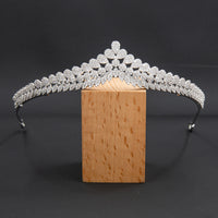 5A Level Cubic Zirconia Wedding Bridal Big Tiara Diadem CH10354