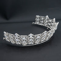 Zirconia Honeycomb Boucheron Tiara for Wedding,Crystal Replica Tiaras for Bride CH10358
