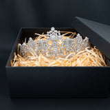 6.5CM Zirconia Luxembourg Replica Tiara for Wedding,Crystal Princess Tiaras HG027
