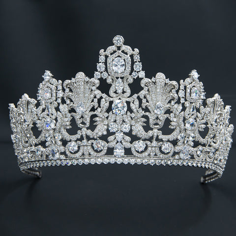 Vintage Zirconia Luxembourg Tiara for Wedding,Crystal Queens Tiaras HG026-1